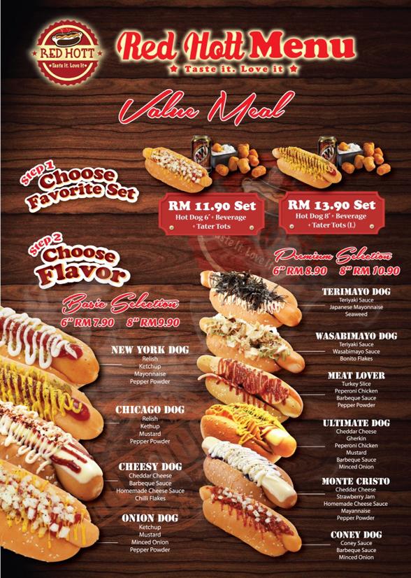 red hott menu 01
